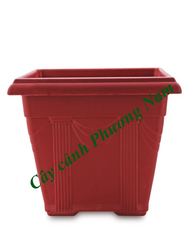 Chậu nhựa vuông 36 x 36 (đỏ)