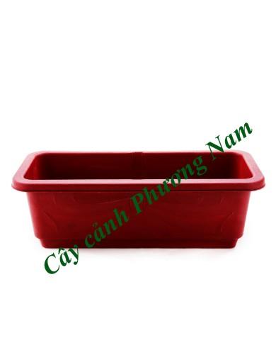 Chậu nhựa dài 48 x 20 cm (đỏ)
