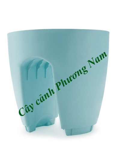 Chậu nhựa lan can 30 x 30 cm (xanh)