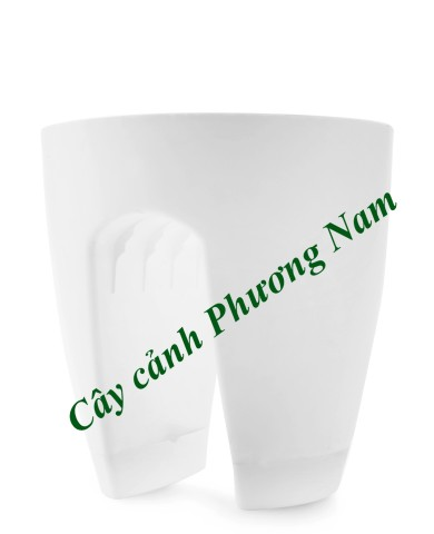 Chậu nhựa lan can 30 x 30 cm (trắng)