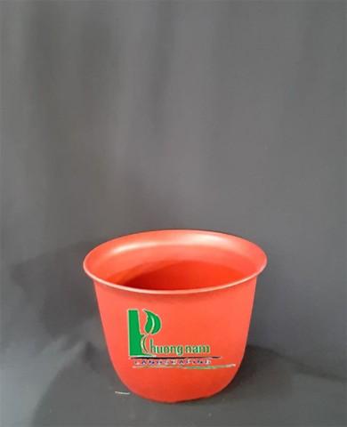 Chậu nhựa tròn 20 x 13 cm (đỏ)